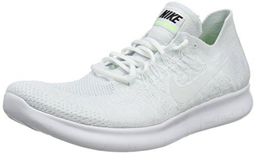 c6eed44a292 NIKE Men s Free RN Flyknit 2017 Running Shoe Light Carbon Obsidian  White Pure Platinum