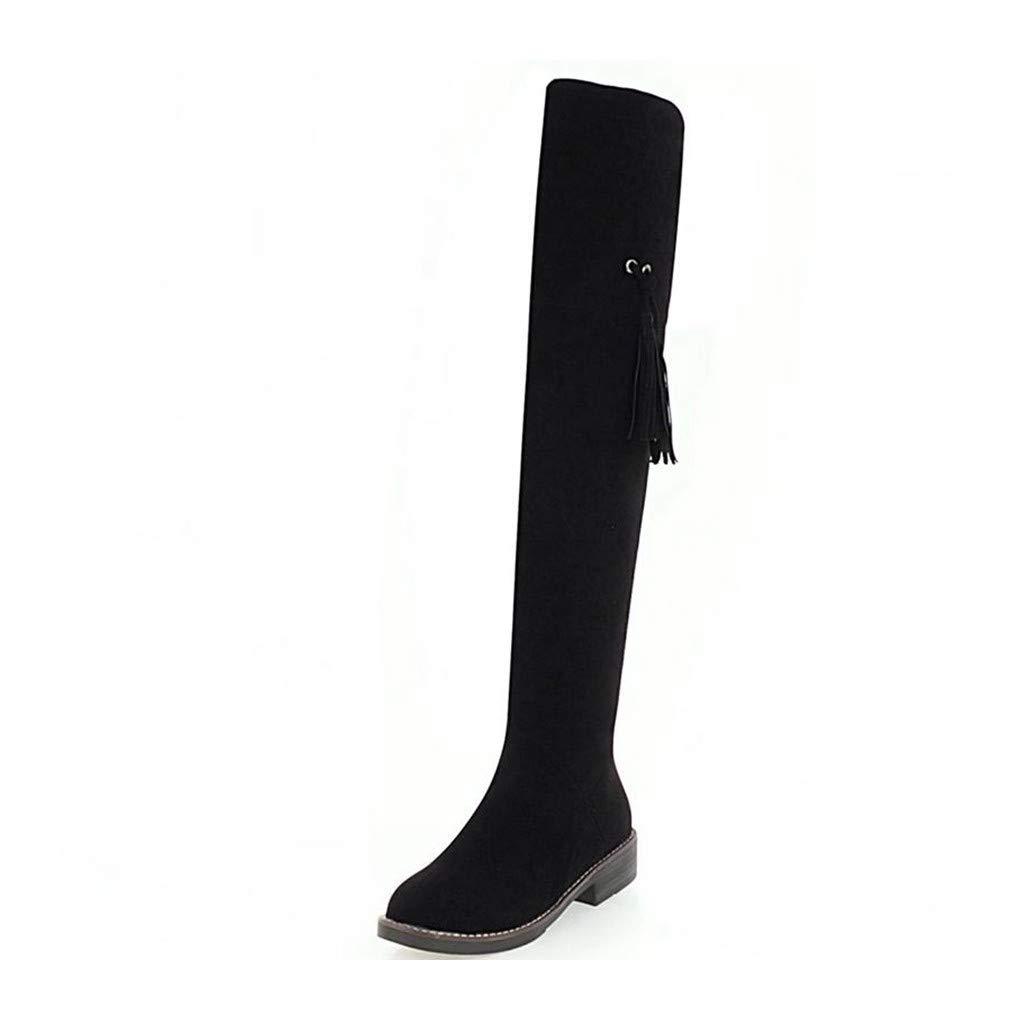 HAOLIEQUAN Größe 32-45 Frauen Stretch Schlanke Oberschenkel High Heel Stiefel Damenmode Overknee Stiefel Frau Platz High Heel Schuhe