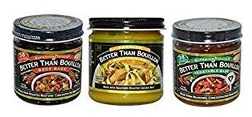 Better than Bouillon Beef Base, Chicken Base, Vegetable Base (Variety Pack)