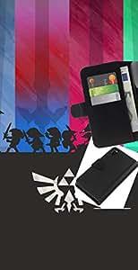 """A-type (Leyenda de Zeldo"""") Colorida Impresión Funda Cuero Monedero Caja Bolsa Cubierta Caja Piel Card Slots Para Sony Xperia Z3 D6603"""