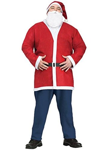 Fun World FW7736NP Adult Plus Size Pub Crawl Santa Jacket Kit Costume (Santa Pub Crawl)
