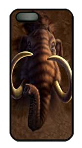 iPhone 5 5S Case -Mammoth Head Black Custom iPhone 5 5S Case Cover