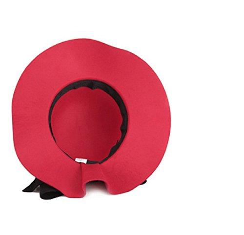 da8b224bd5d7b TYGRR Señoras Sombrero De Lana Casquillo De La Manera Manera Casquillo Del Lavabo  Aleros Cortos Sombrero De La Bóveda Decoración Del Arco