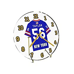 Lawrence 'LT' Taylor 56 New York Giants Desktop Clock - National Football League Legends Edition !! Blue