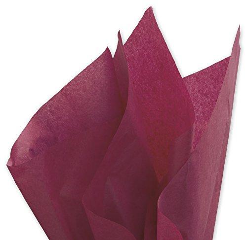 Dark Burgundy Bulk Tissue Paper 15 Inches x 20 Inches - 100 Sheets (Bulk Red Wine)