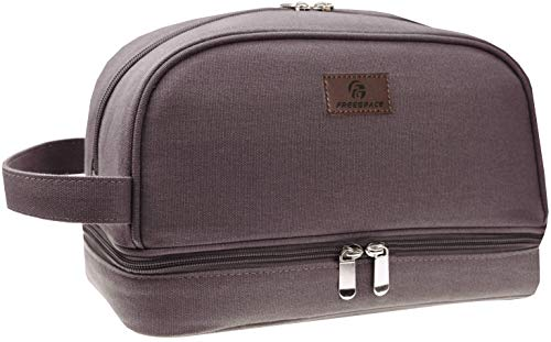 Canvas Toiletry Bag - Large Dopp Kit For Men & Women - The Perfect Travel Essentials Organizer - Ideal For Cosmetics, Personal Items, Shaving Sets, Shampoo, Body Wash & More