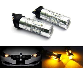 Amber PWY24W PW24W - 2 bombillas LED para faro delantero de Samsung (DRL, A3, A4, A5, F30, C4, Golf 208): Amazon.es: Coche y moto
