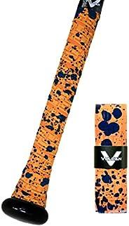 Vulcan Sporting Goods Co. 1.75mm Bat Grip, Orange Splatter (V175-ORGSPLT)