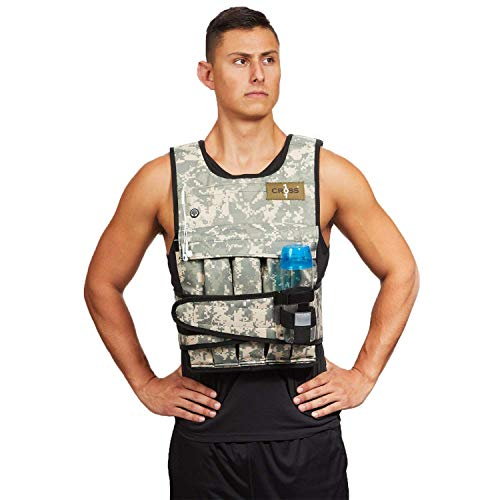 CROSS101 Adjustable Camouflage Weighted Vest 12LBS – 140LBS