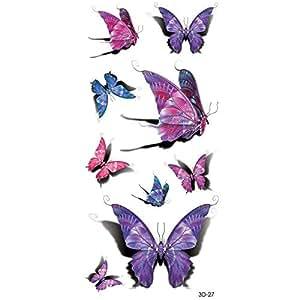 Waterproof Butterfly Design Temporary Tattoo