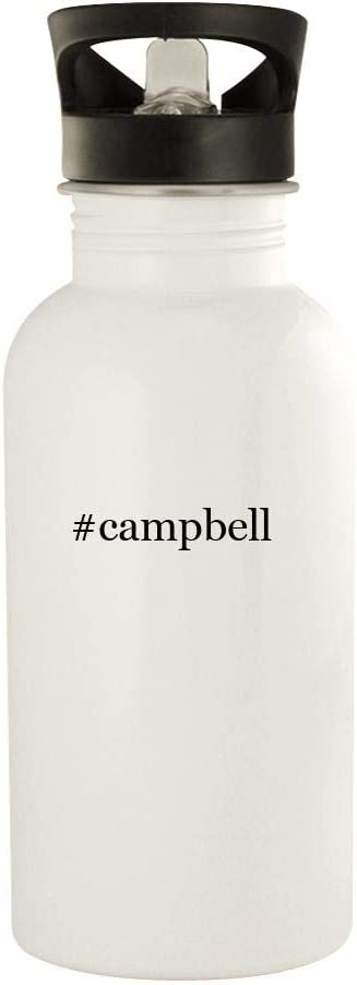 #Campbell - 20Oz Hashtag Stainless Steel Water Bottle, White
