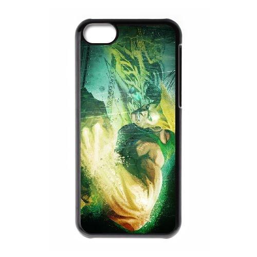 Street Fighter X Tekken 4 coque iPhone 5c cellulaire cas coque de téléphone cas téléphone cellulaire noir couvercle EEECBCAAN03818