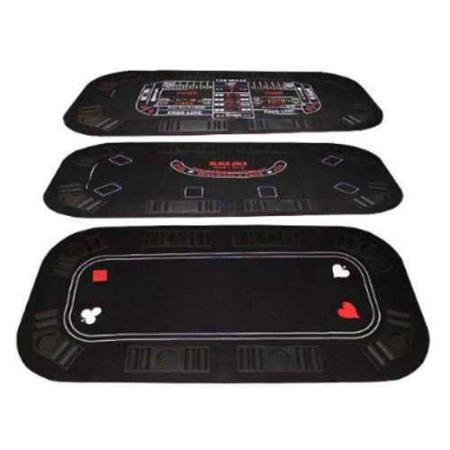 3-In-1 Poker & Casino Folding Table Top by Brybelly