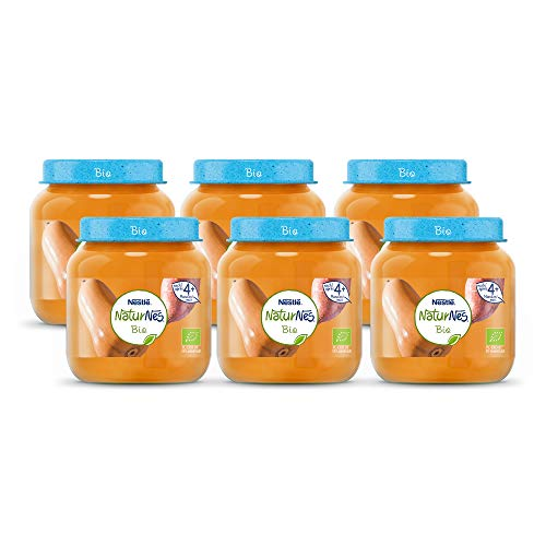 NaturNes Bio Pompoen Zoete Aardappel – babyvoeding biologisch – vanaf 4 maanden – 6 stuks