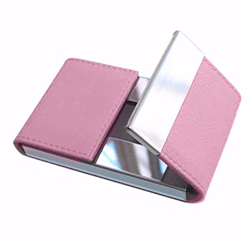 Hinged Flash Attachment (YJYdada Credit Card Package Card Holder Double Open Business Card Case (Pink))