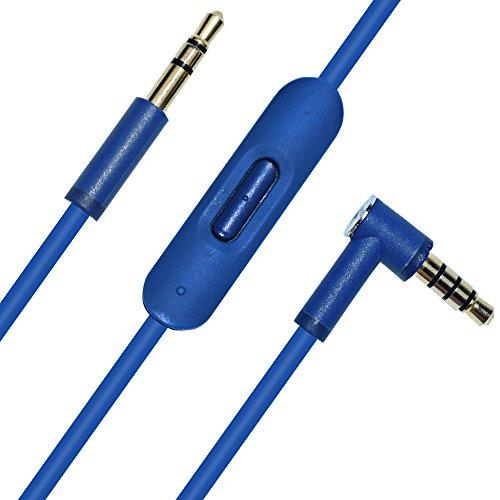 Asobilor Inline Remote MIC Audio Cable Cord for Beats by Dr Dre Solo Studio Pro Detox Mixr Executive Pill Headphones(Blue)