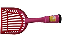 Cat Litter Scoop - 2 In One - Pink - This Sturdy - Easy To Use - Easy Grip Slotted Scooper Is Also A Waste Bag Dispenser In The Handle With 12 Waste Bags That Are 12\