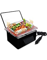 Zone Tech Food Heating Lunch Box - Premium Quality Portable Electric Insulated Black Lunch Box, Food Warmer and Heater- Perfect for Picnics, Travelling, Office and On-site Lunch Break