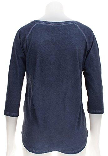 NAPAPIJRI 3/4 de la manga de la camiseta de las mujeres NOYFZT176 SARACENA AZUL MARINO turquesa
