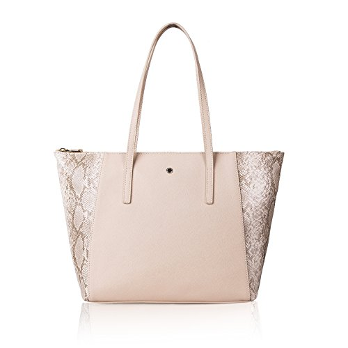 The Lovely Tote Co. Women's Snakeskin Pattern Top Handle Wing Tote - Skin Womens
