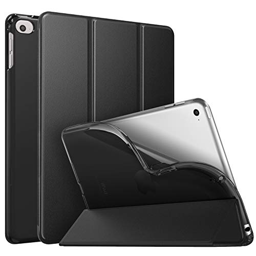 MoKo Case Fit New iPad Mini 5 2019 (5th Generation 7.9 inch), Slim Smart Shell Stand Folio Case with Soft TPU Translucent Frosted Back Cover, Auto Wake/Sleep - Black (Ipad Mini 2 Ipad Mini 4 Comparison)