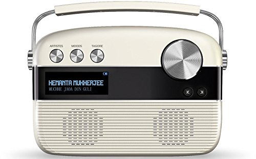 Saregama Carvaan Bengali Portable Digital Music Player (Porcelain White) (Best Tv Tuner Card In India)