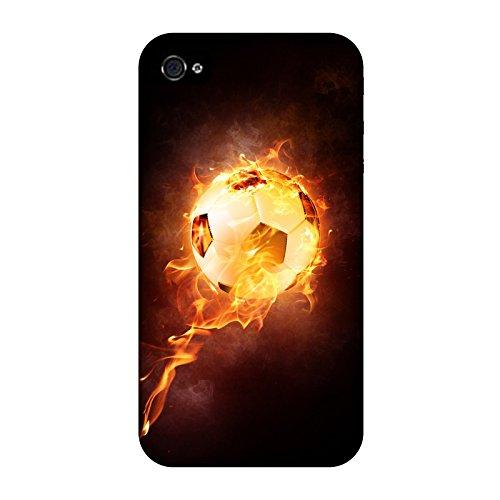 Coque Iphone 4-4s - Football Ballon Feu