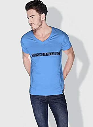 Creo Shopping Is My Cardio Funny T-Shirts For Men - Xl, Blue