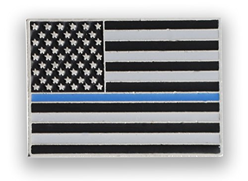 Blue Usa Pin - WIZARDPINS Made in USA Thin Blue Line American Flag Police Pin (1 Pin)