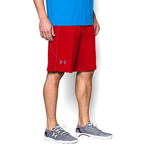 Red Training Shorts (Under Armour Men's Raid 10