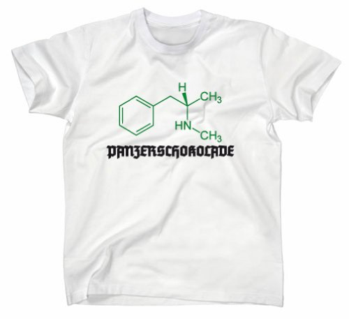 #3 Crystal Meth Panzerschokolade Pervitin T-Shirt, cook, breaking bad, XL, weiss