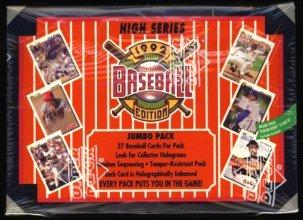 1992 Upper Deck High Series Baseball Cards Jumbo Box of U...