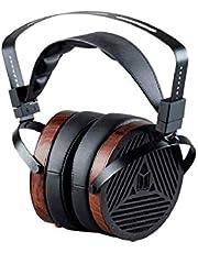 Monolith M1060 Over Ear płaskie magnetyczne słuchawki – czarny/drewno z sterownikiem 106 mm, konstrukcja z otwartym tyłem z tyłu, wygodne nauszniki do studia / profesjonalistów