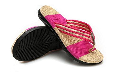 Phoenixes Flip Flops, Damen Pantoffeln Pantoletten Herren Hausschuhe Sommer Schuhe Anti-Rutsch Zehentrenner Damen Pink