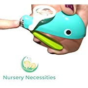 NAIL WHALE - #1 Best Baby & Child Nail Clippers - Eats  Nail Clippings - Magnifier & Finger Safety Stabilizer - By Nursery Necessities