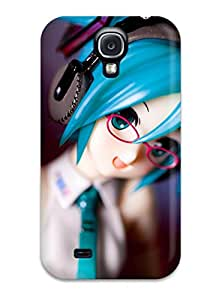 Premium Anime Miku Vocaloid Figure Headphones Glasses Macro Girl Back Cover Snap On Case For Galaxy S4