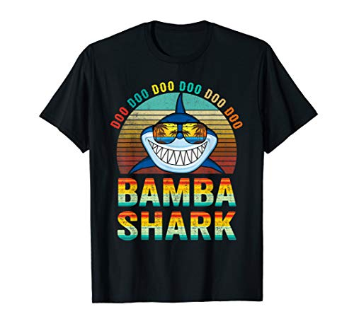 Bamba Shark Shirt Father's Day Gifts For Men Grandpa Shark -