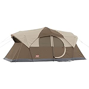 4. Coleman WeatherMaster 10 Person Hinged Door Tent