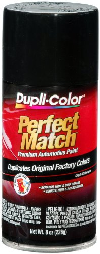 Dupli-Color EBUN01007 Universal Gloss Black Perfect Match Automotive Paint - 8 oz. - Chevrolet G10 1968 Van