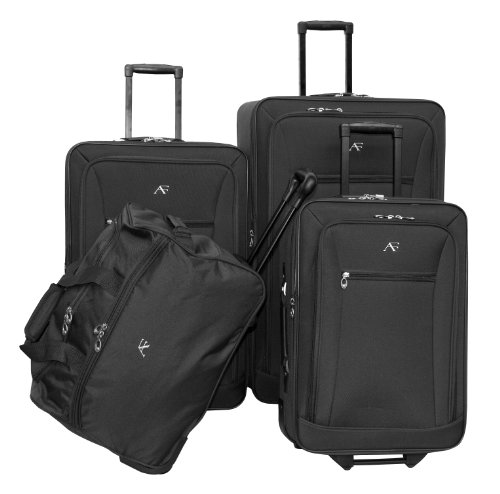 american-flyer-luggage-brooklyn-collection-4-piece-set-black-one-size