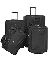 American Flyer Luggage Brooklyn Collection 4 Piece Set, Black, One Size