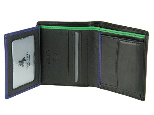 Negro Crédito Billetes Visconti De De Banco Naranja Tarjetas De Bd22 Verde Cartera Piel rojo Caballeros Mens Y 8UTwpU60q