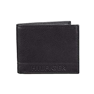 Tommy Hilfiger Men's Leather Wallet – RFID Blocking Slim Thin Bifold with Removable Card Holder and Gift Box