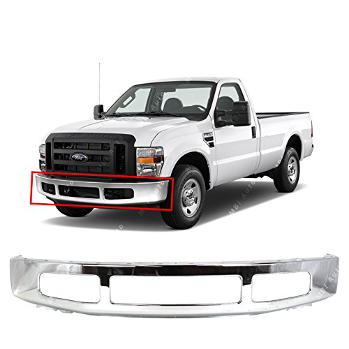(MBI AUTO - Steel Chrome, Front Bumper Face Bar for 2008 2009 2010 Ford F250 F350 Super Duty, FO1002406)