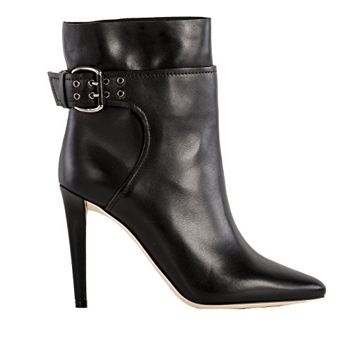 JIMMY CHOO FEMME MAJOR100S0CBLACK NOIR CUIR BOTTINES