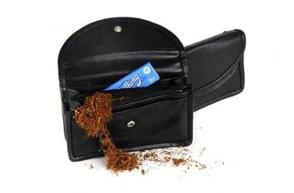 Bolsa para tabaco de liar en piel negra forrada en latex ...