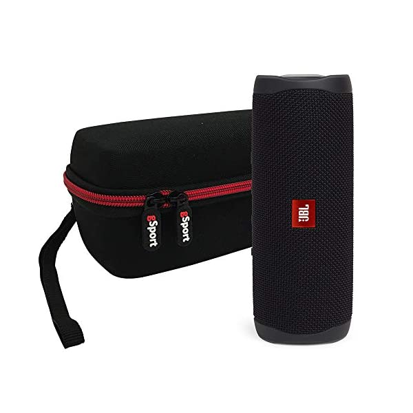 JBL FLIP 5 Portable Speaker IPX7 Waterproof On-The-Go Bundle with gSport Deluxe Hardshell Case (Multiple Colors)
