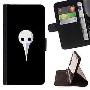 Momo Phone Case / Flip Funda de Cuero Case Cover - Largo Máscara Blanca;;;;;;;; - LG Nexus 5 D820 D821