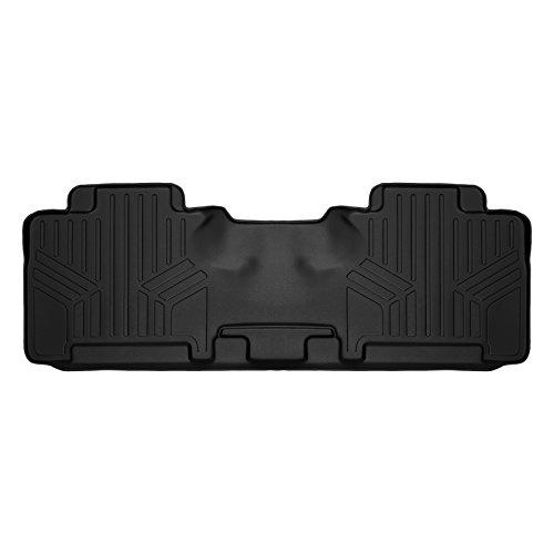 SMARTLINER Custom Fit Floor Mats 2nd Row Liner Black for 2007-2017 Ford Expedition/Lincoln Navigator