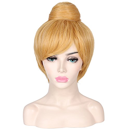 ColorGround Women's Short Blonde Cosplay Costume Wig with